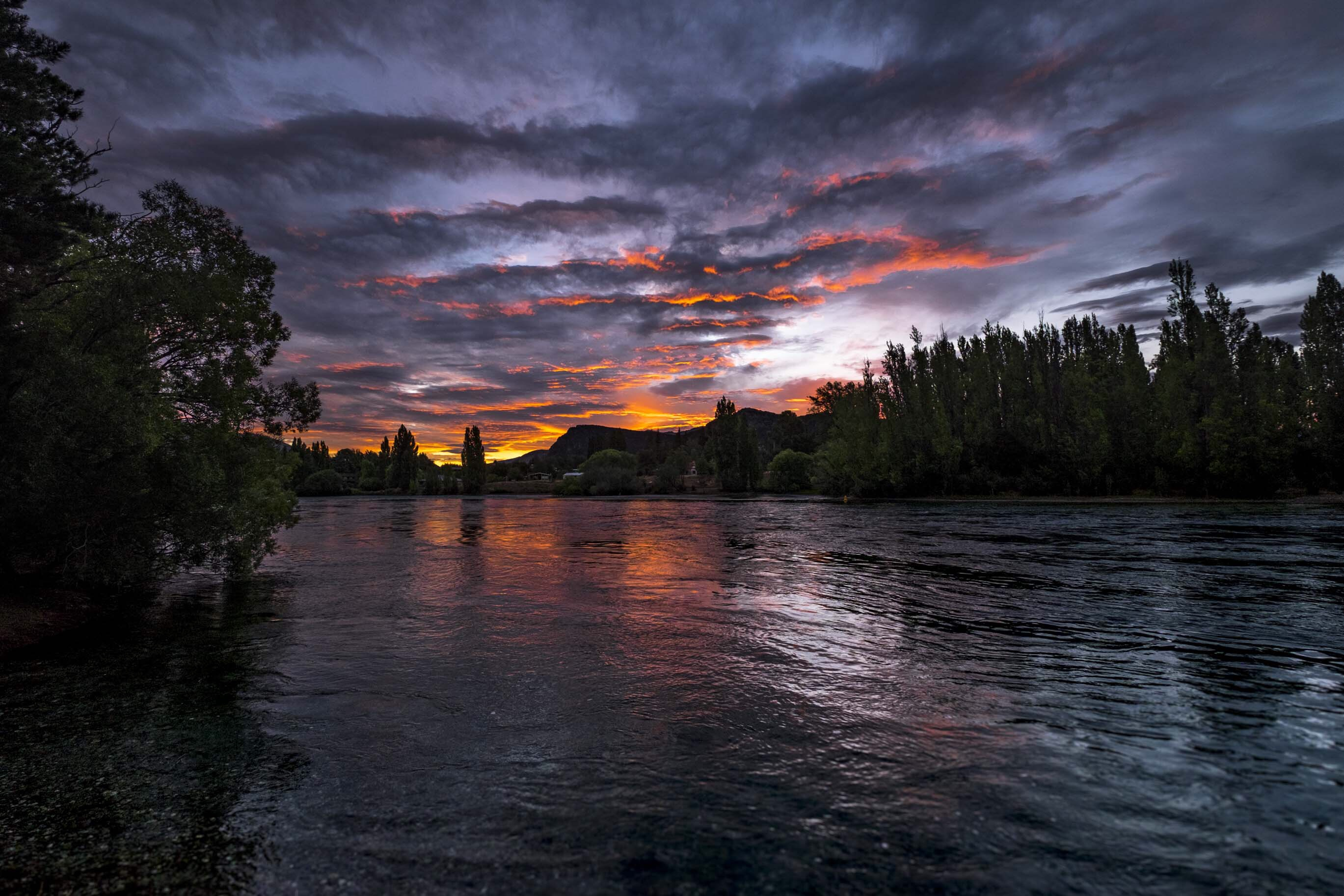 camping view wanaka sunset