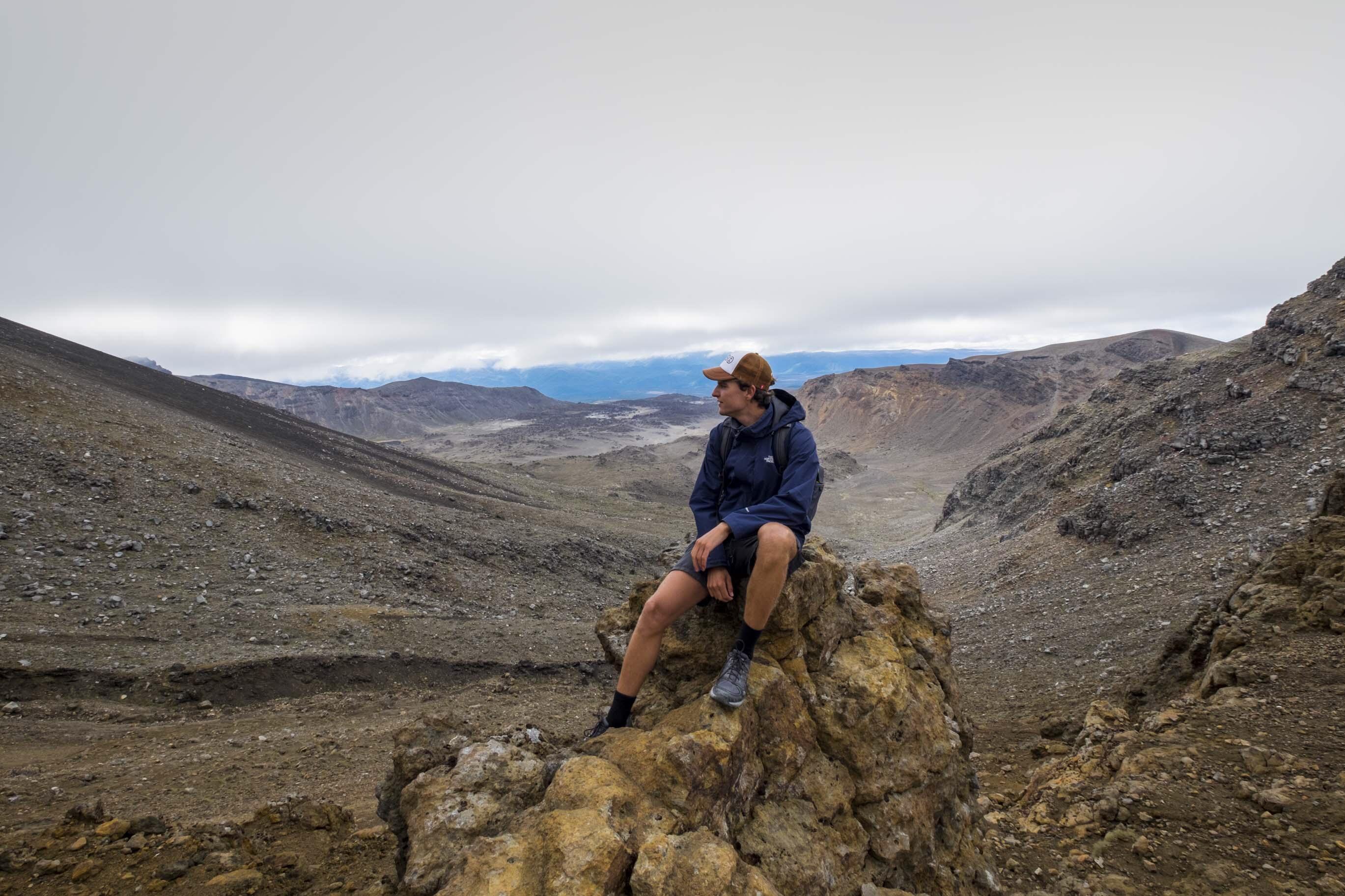 tongariro track volcano view 3