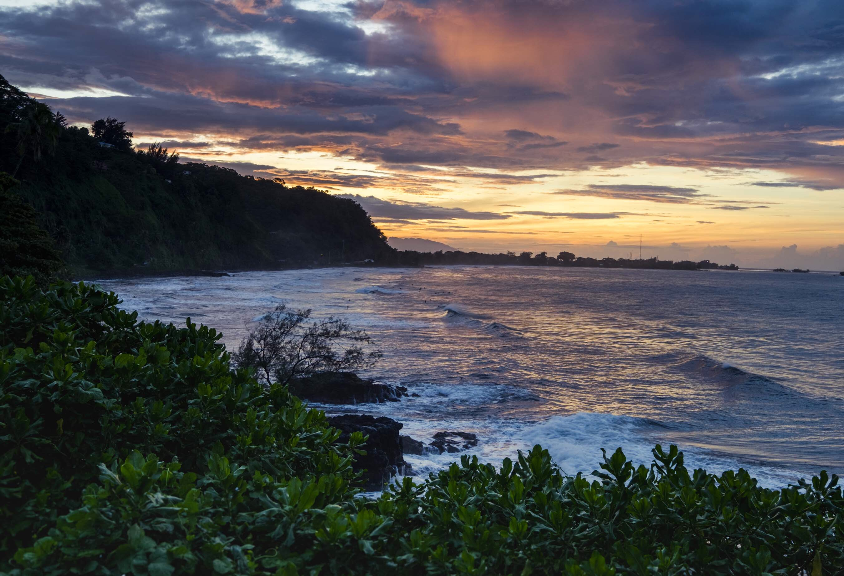 FP: tahiti beach sunset