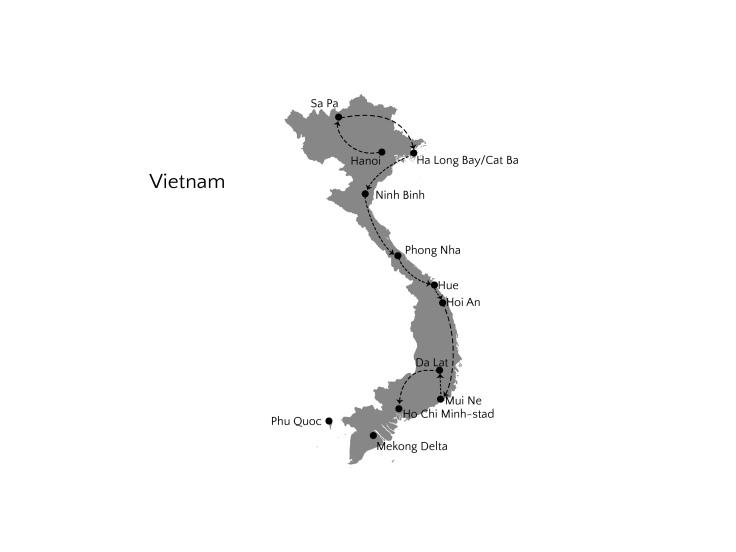 vietnam 4 weken route-01